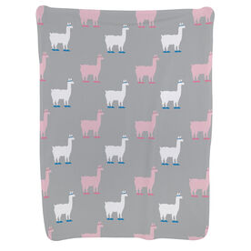 Running Baby Blanket - Running Llama Pattern
