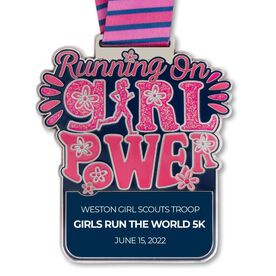 Running on Girl Power Custom Race Medals