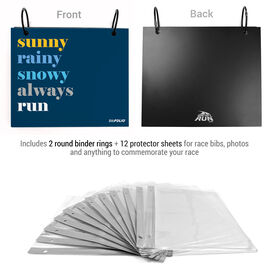 BibFOLIO® Race Bib Album - Weather Mantra