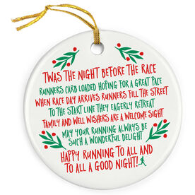 Running Porcelain Ornament - Twas The Night Before The Race