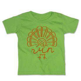 Running Toddler Short Sleeve Tee - Runner Turkey