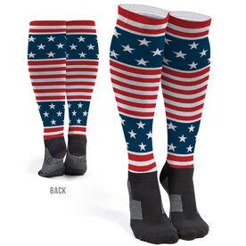 Printed Knee-High Socks - Stars And Stripes
