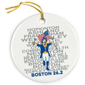 Porcelain Ornament Boston Patriot
