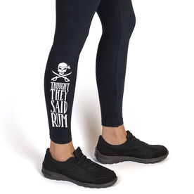 Running Leggings - Thought They Said Rum