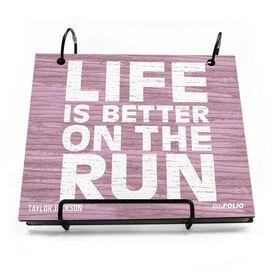 BibFOLIO® Race Bib Album - Life Is Better On The Run Rustic