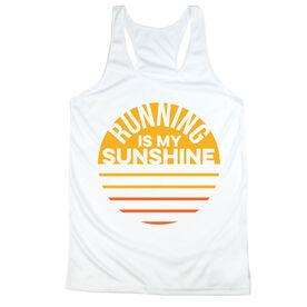 Women's Racerback Performance Tank Top - Running is My Sunshine