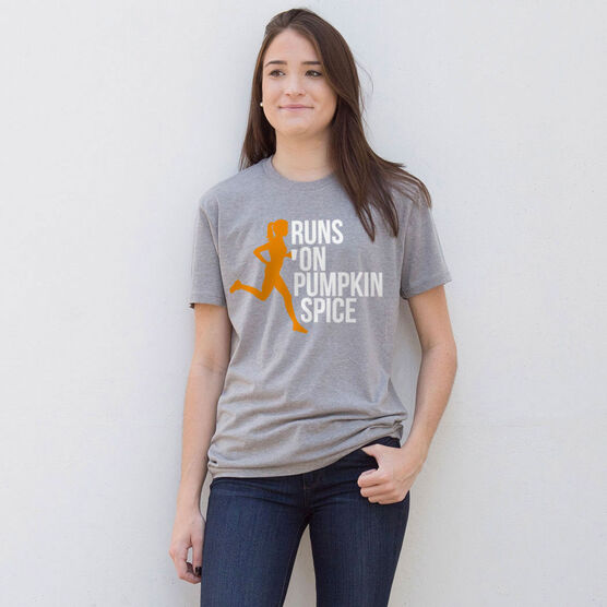 Running Short Sleeve T-Shirt - Runs On Pumpkin Spice