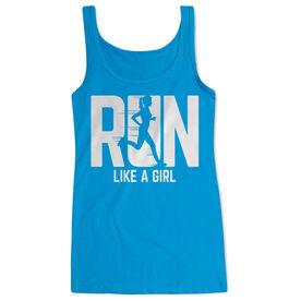 Women's Athletic Tank Top - Run Like A Girl