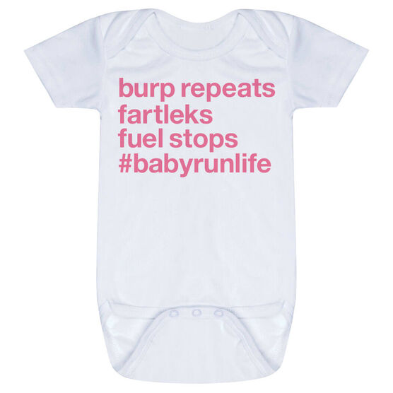 Running Baby One-Piece - Burp Repeats Fartleks Fuel Stops