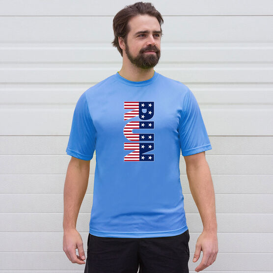 Men's Running Short Sleeve Tech Tee - Patriotic Run