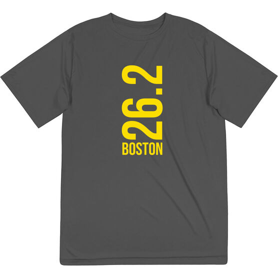 Men's Running Short Sleeve Tech Tee - Boston 26.2 Vertical