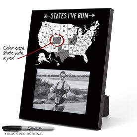 Running Photo Frame - States I've Run