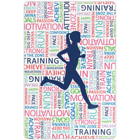 "Running 18"" X 12"" Wall Art - Inspirational Words Female"