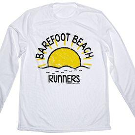 Men's Running Long Sleeve Tech Tee Run Club Barefoot Beach Runners