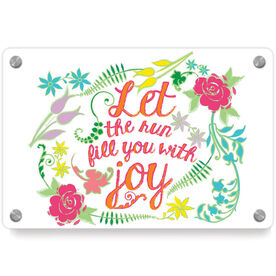Running Metal Wall Art Panel - Let The Run Fill You With Joy