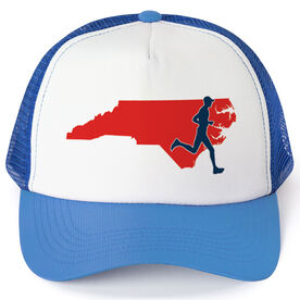Running Trucker Hat - North Carolina Male Runner