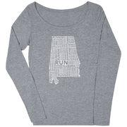 Women's Scoop Neck Long Sleeve Runners Tee Alabama State Runner