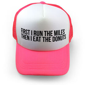 Running Trucker Hat - Then I Eat The Donuts