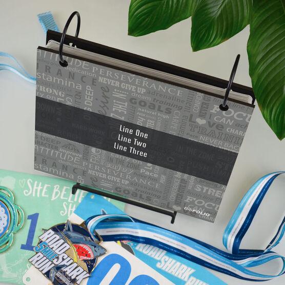 BibFOLIO® Race Bib Album - Running Motivation With Ribbon