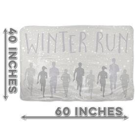 Running Sherpa Fleece Blanket Winter Run