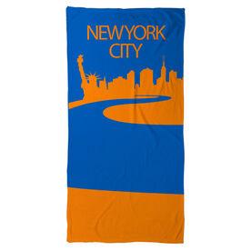 Running Beach Towel NYC City