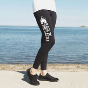 Running High Print Leggings - Race To The Castle