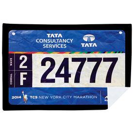 Running Premium Blanket - Your Race Bibs (1 Bib)