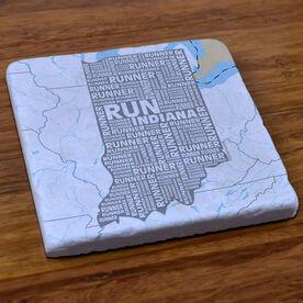 Indiana State Runner Stone Coaster