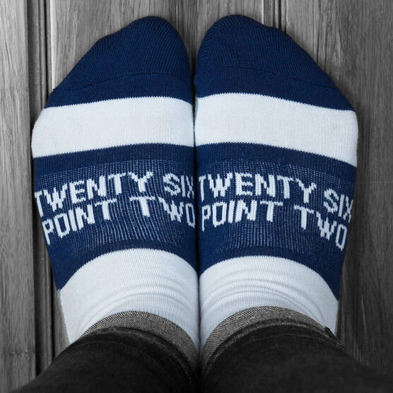 Socrates® Woven Performance Socks 26.2 You've Got This! (Lime)