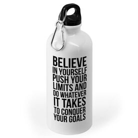 Running 20 oz. Stainless Steel Water Bottle - Believe In Yourself
