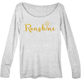 Women's Runner Scoop Neck Long Sleeve Tee Runshine