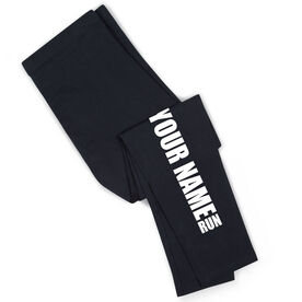 Running Leggings - Run Your Name Run