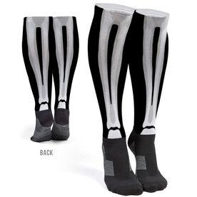 Printed Knee-High Socks - Skeleton