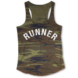 Running Camouflage Racerback Tank Top - Runner Arc