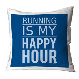 Running Throw Pillow Running Is My Happy Hour