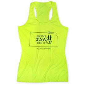 Women's Performance Tank Top - Moms Run This Town Kansas Runner