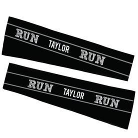 Running Printed Arm Sleeves - Run Your Name Run