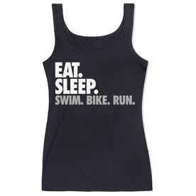 Triathlon Women's Athletic Tank Top Eat. Sleep. Swim. Bike. Run.