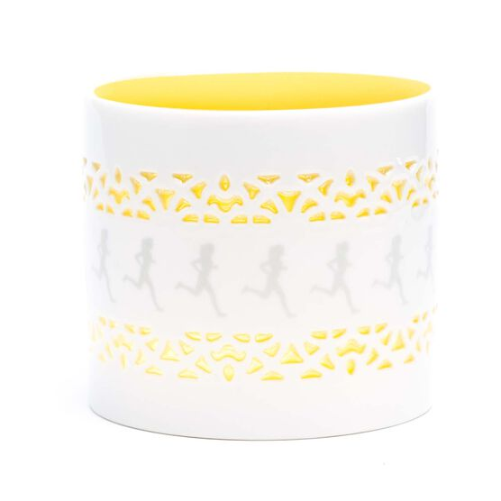 Soleil Home™ Running Porcelain Candle Holder - Runner Girl