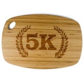 Rectangle Laser Engraved Bamboo Cutting Board 5K Vine Crest