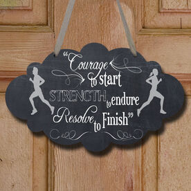 Vintage Courage To Start Decorative Cloud Sign