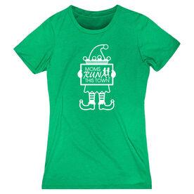 Running Women's Everyday Tee - Moms Run This Town Elf
