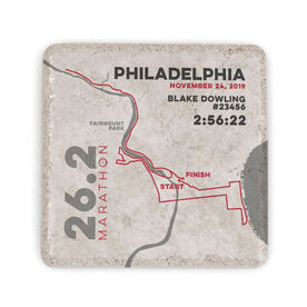 Running Stone Coaster - Philadelphia 26.2 Route