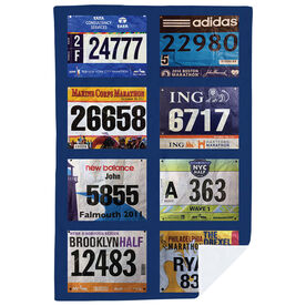 Running Premium Blanket - Your Race Bibs (8 Bibs)