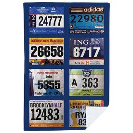 Running Premium Blanket - Your Race Bibs (8 Bibs)