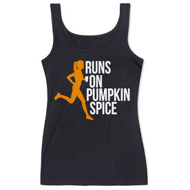 Running Women's Athletic Tank Top - Runs On Pumpkin Spice