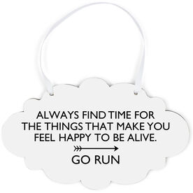 Running Cloud Sign - Always Find Time
