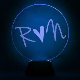 Running Acrylic LED Lamp Heart Run