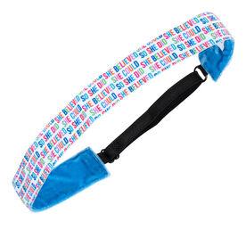 Running Juliband Non-Slip Headband - She Believed She Could