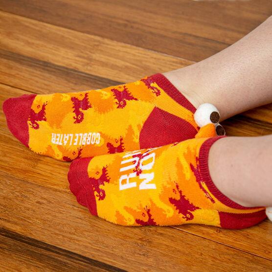 Costume Ankle Socks - Run Now Gobble Later Turkey